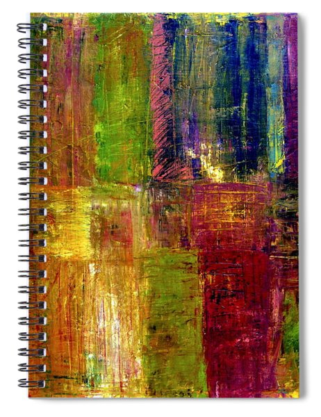 Color Panel Abstract Spiral Notebook
