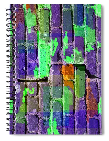 Colored Brick And Mortar 4 Spiral Notebook