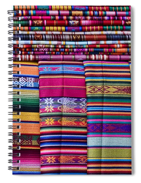 Colorful Blankets Santa Fe Spiral Notebook