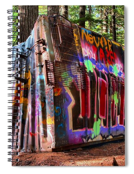 Colorful Box Car In The Forest Spiral Notebook