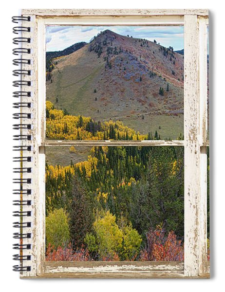 Colorful Colorado Rustic Window View Spiral Notebook