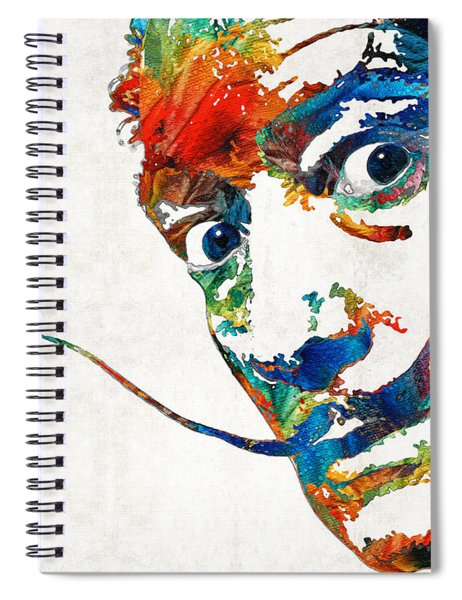 Colorful Dali Art By Sharon Cummings Spiral Notebook