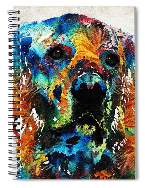 Colorful Dog Art - Heart And Soul - By Sharon Cummings Spiral Notebook