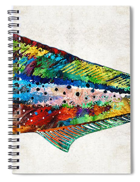 Colorful Dolphin Fish By Sharon Cummings Spiral Notebook