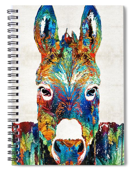 Colorful Donkey Art - Mr. Personality - By Sharon Cummings Spiral Notebook
