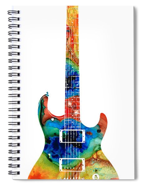 Colorful Electric Guitar 2 - Abstract Art By Sharon Cummings Spiral Notebook