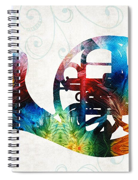 Colorful French Horn - Color Fusion By Sharon Cummings Spiral Notebook