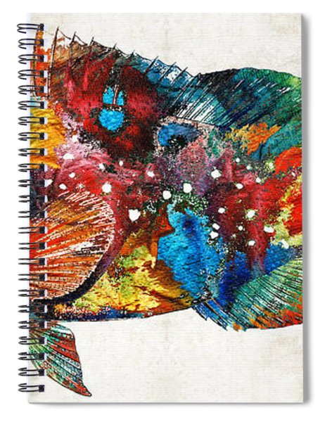 Colorful Grouper Art Fish By Sharon Cummings Spiral Notebook