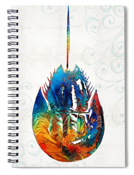 Colorful Horseshoe Crab Art By Sharon Cummings Spiral Notebook