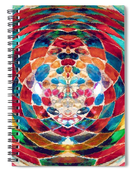 Colorful Mosaic Spiral Notebook