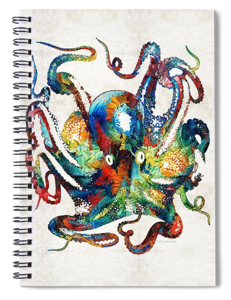 Colorful Octopus Art By Sharon Cummings Spiral Notebook