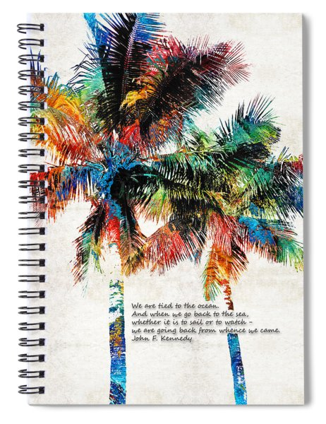 Colorful Palm Trees - Returning Home - By Sharon Cummings Spiral Notebook