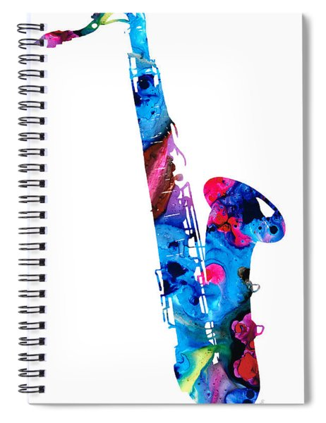 Colorful Saxophone 2 By Sharon Cummings Spiral Notebook