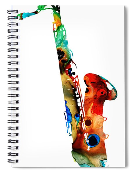 Colorful Saxophone By Sharon Cummings Spiral Notebook