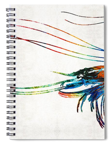Colorful Shrimp Art By Sharon Cummings Spiral Notebook