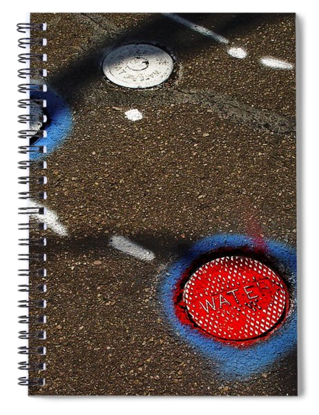 Colorful Storm Drain Covers And White Spiral Notebook