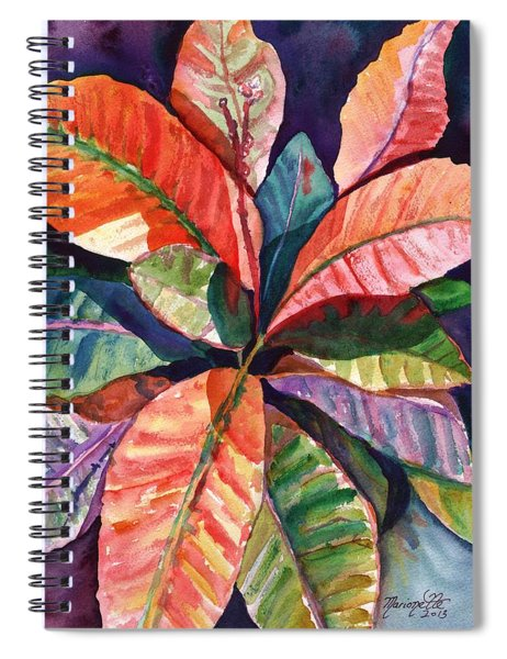 Colorful Tropical Leaves 1 Spiral Notebook