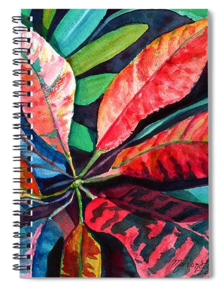 Colorful Tropical Leaves 2 Spiral Notebook
