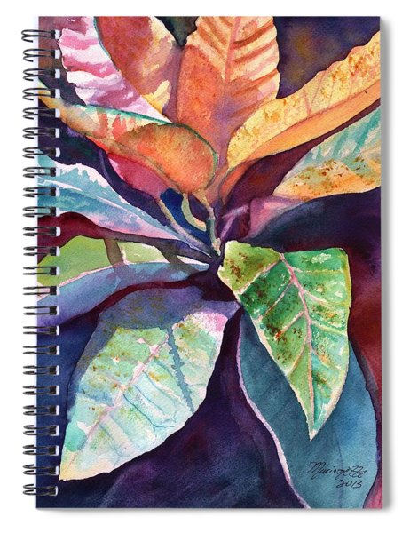 Colorful Tropical Leaves 3 Spiral Notebook