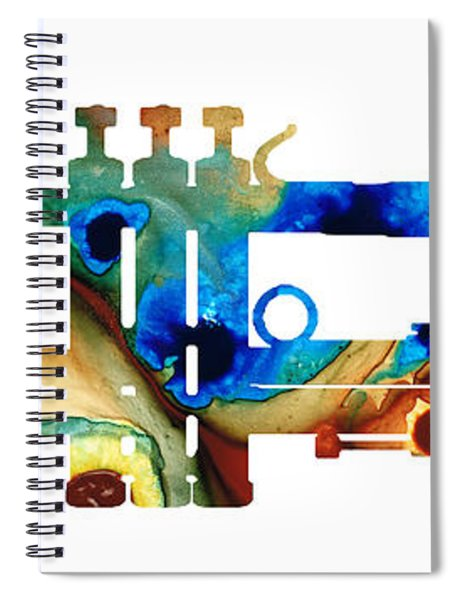Colorful Trumpet Art By Sharon Cummings Spiral Notebook