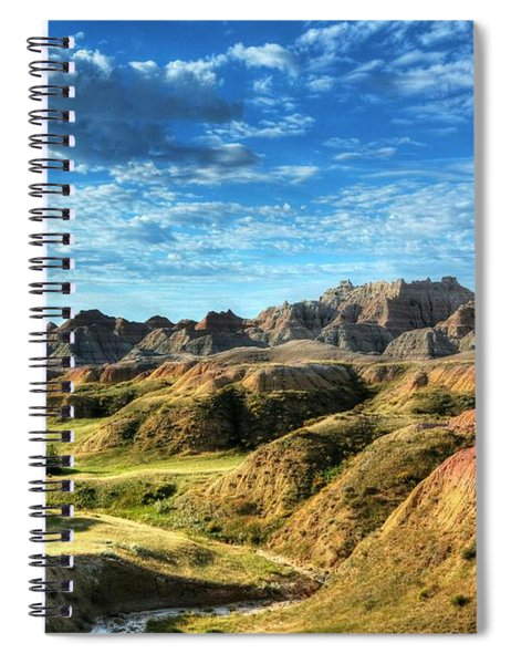 Spiral Notebook featuring the photograph Colors Of The Badlands by Mel Steinhauer
