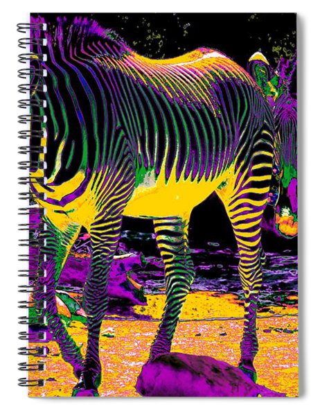 Colourful Zebras  Spiral Notebook
