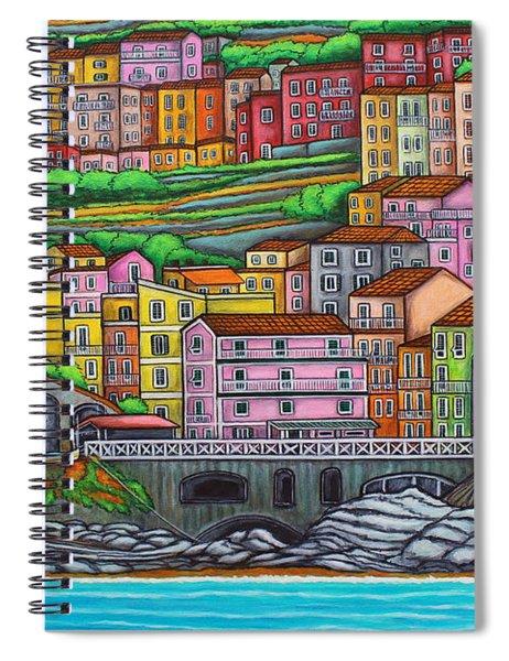 Colours Of Manarola Spiral Notebook