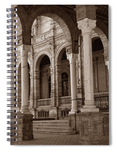 Columns And Arches Spiral Notebook