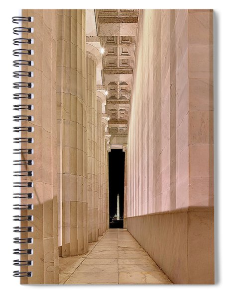 Columns And Monuments Spiral Notebook