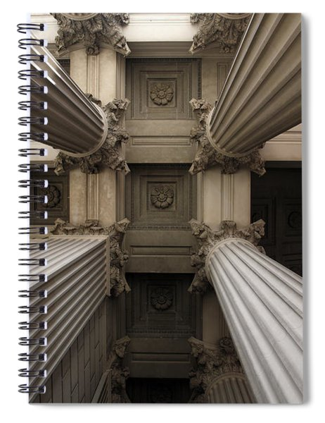 Columns At The National Archives In Washington Dc Spiral Notebook