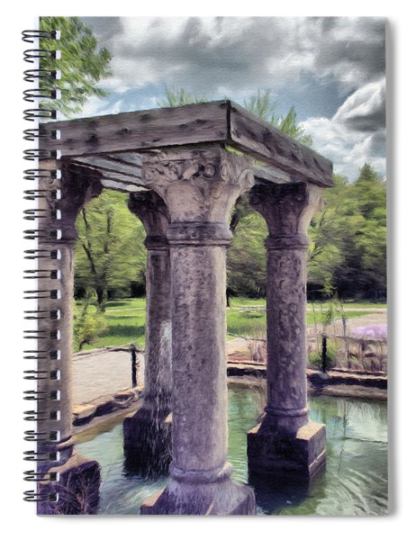 Columns In The Water Spiral Notebook