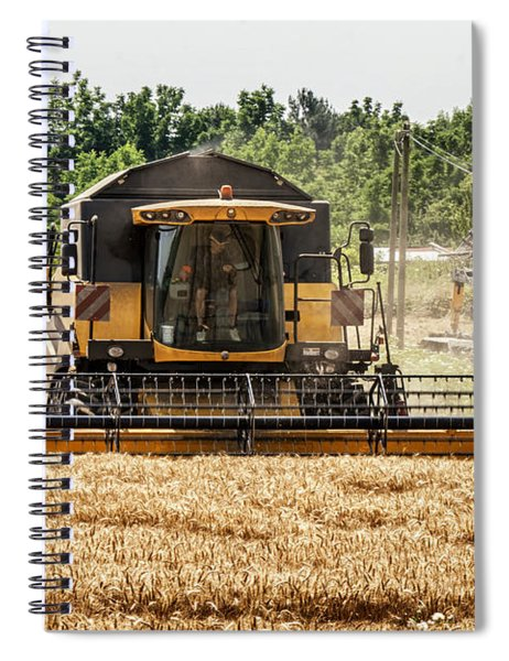 Combine Harvester Spiral Notebook