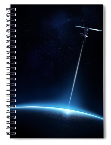 Communication Between Satellite And Earth Spiral Notebook
