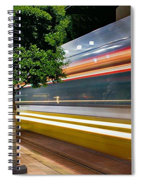 Dallas Commuter Train 052214 Spiral Notebook