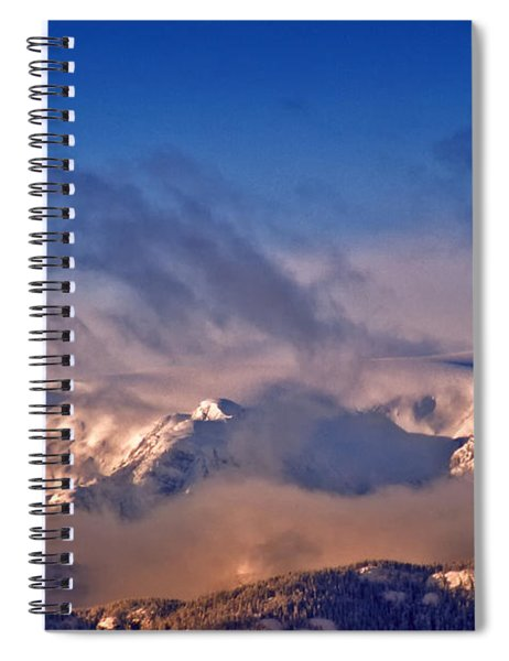 Comox Glacier And Morning Mist Spiral Notebook