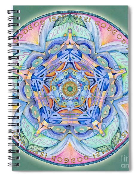 Compassion Mandala Spiral Notebook