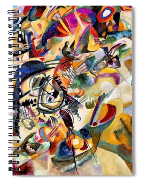 Composition Vii  Spiral Notebook
