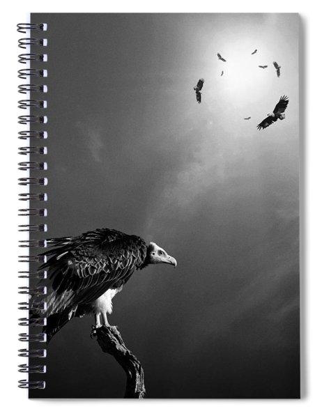 Conceptual - Vultures Awaiting Spiral Notebook