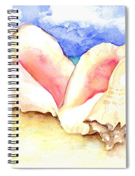 Conch Shells On Beach Spiral Notebook