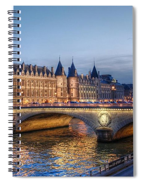 Conciergerie And Pont Napoleon At Twilight Spiral Notebook