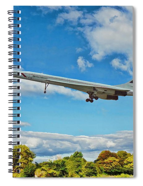 Concorde On Finals Spiral Notebook