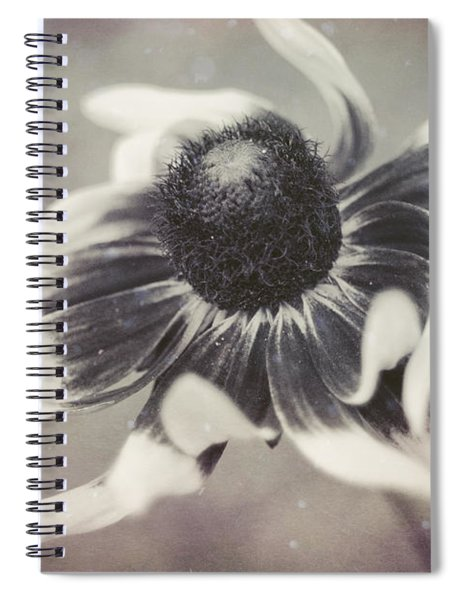 Coneflower In Monochrome Spiral Notebook