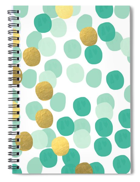 Confetti 2- Abstract Art Spiral Notebook by Linda Woods