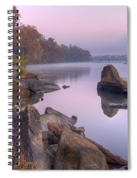 Congaree River At Dawn-1 Spiral Notebook