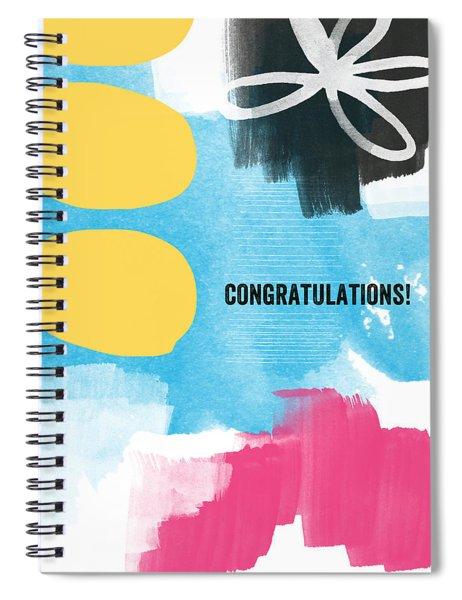 Congratulations- Abstract Art Greeting Card Spiral Notebook