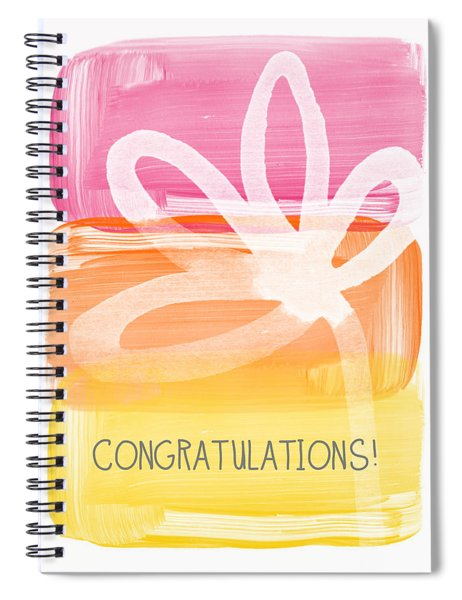 Congratulations- Greeting Card Spiral Notebook by Linda Woods