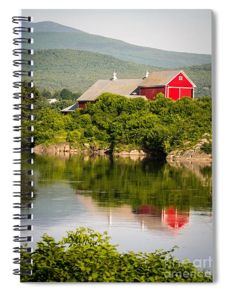 Spiral Notebook featuring the photograph Connecticut River Farm by Edward Fielding