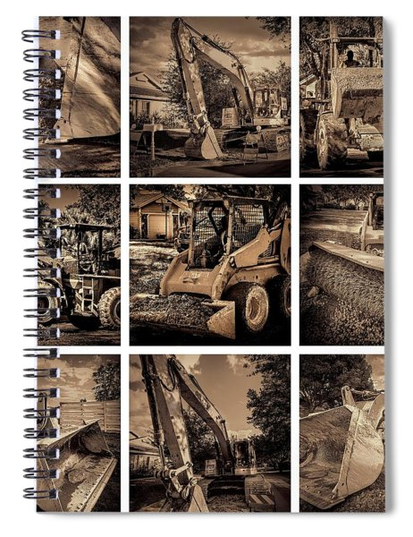 Construction Collage-2 Spiral Notebook