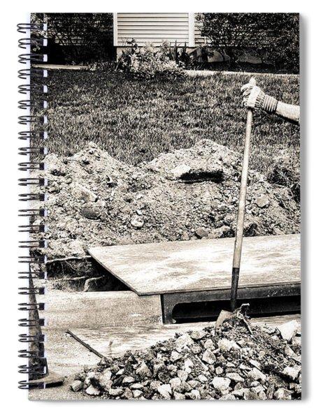 Construction Worker Spiral Notebook