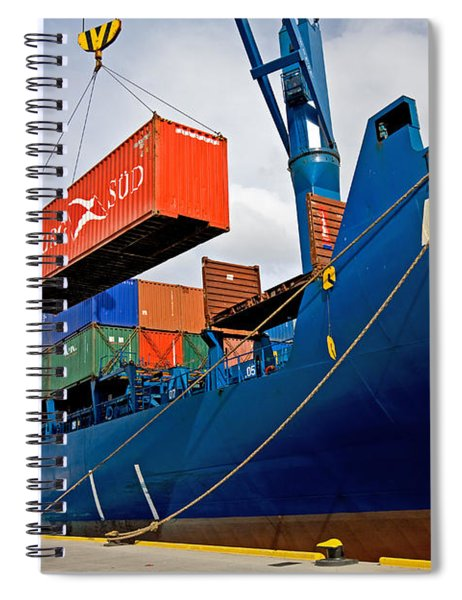Container Ship Spiral Notebook